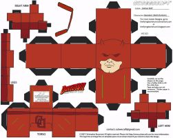 Marvel 1: Daredevil Cubee by TheFlyingDachshund