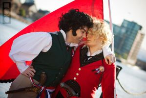 Les Miserables Cosplay: Enjolras and Grantaire by GoldenMochi