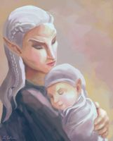 Mirthys and Child by LMColver
