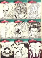 Marvel Sketch Cards 3 by martheus