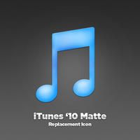 iTunes 10 Matte Replacement by macintex