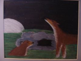 Wolves in the night by QueenzSerenity3