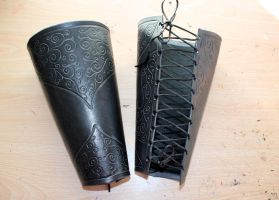 Death Eater Leather Vambraces by Masktastic