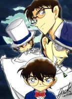 Detective Conan VS Kid by conan419