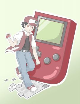 Red Game Boy by BrandedSage