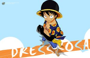One Piece 1 Dressrosa (Luffy) - 2800x800 by PugPrime