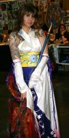 Yuna cosplayer with Body art by knight28