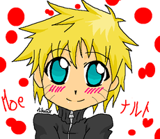 Moe Naruto with Paint software by MikaGx