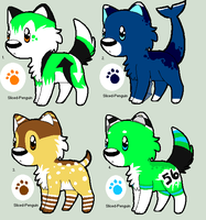 Chibi Wolf Point Adoptables by Sliced-Penguin