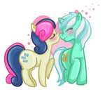 lyra and bonbon by Cloverminto