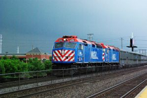 A Metra Commute by Earthfeeler