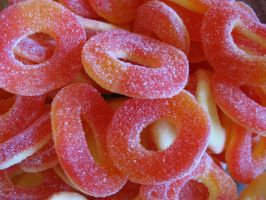 Peach rings by TCJstock