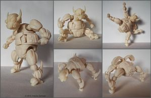 3D printed four-legged or two-legged Robot B by hauke3000