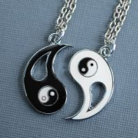 Yin Yang Best Friend Necklaces by MonsterBrandCrafts