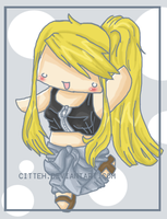 Winry Shark Chibi by Punk-Bunny-Cha