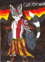 I AM KRATOS CAT OF WAR by valkdaombras
