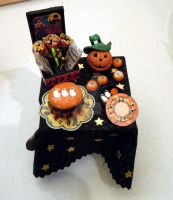Halloween Black Table by miniacquoline