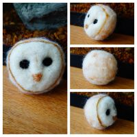 Barn Owl Needle Felt - FIRST TIME EVER! by ohmyhii
