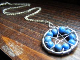 Lapis Lazuli Pentacle Necklace by MoonLitCreations