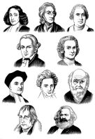 The 10 Modern Philosophers by Viktalon
