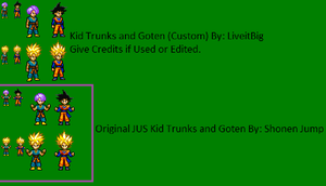 Kid Trunks and Goten JUS by LiveitBig