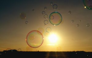 bubbles in the air by Yemmy