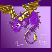 Flying purple..Spyro. :D by Tulidragon