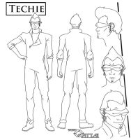 Techie Model Sheet by unitzer07