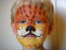 lil' tiger face 3- my nephew by alteredboxes