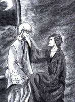 Aizen and Gin - traditional by JoanAda