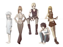 Death Note Rule 63 by AnywhereButReality
