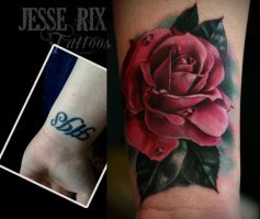 Rose tattoo by jesserix