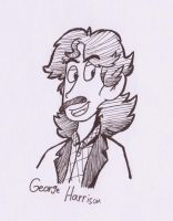 Sketch#8:  George Harrison (The Beatles) by KabouterPollewopje