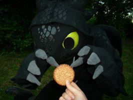 Toothless Wants Cookie by creanima