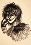 Laughing Jack - ballpoint pen by Nasuki100