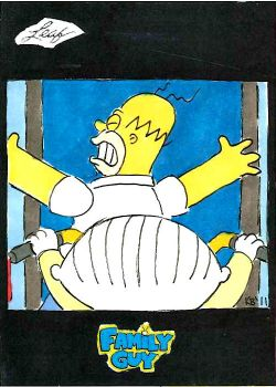 Family Guy colored sketch card - 77 by KBustAMove