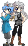 Ice and Airie ::Chibi Commission:: by YamPuff