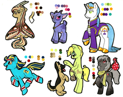 MLP:FIM Adoptables sheet: Spotty-dawg by Kayla-san