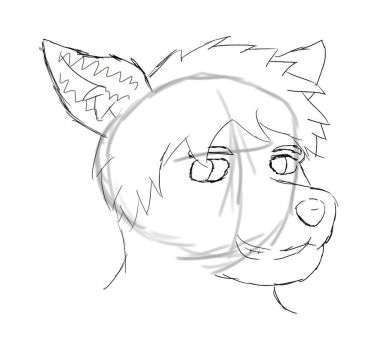 Sketch Headshot by Theflamingbear