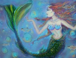 Pisces Irish Mermaid by tessieart333