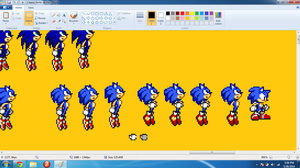 Working on Classic Sonic v2.0 by StevetheSnake