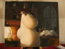Moomin-dad oil on canvas by JohanLeion