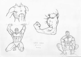 super hero muscle study by raMbo1911