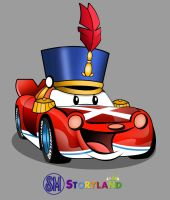Sports Car Character for SM Storyland by wakoART
