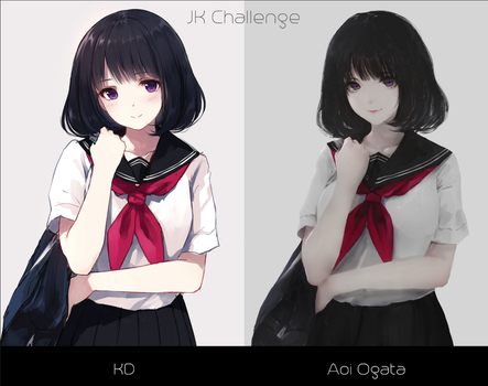JK (Highschool girl) Challenge by AoiOgataArtist