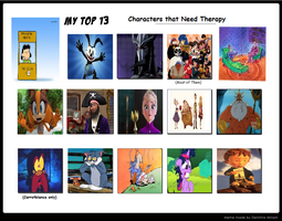 Thirteen Characters That Need Therapy by KessieLou