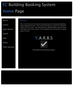 YARBS Website Front Page by Tomrade