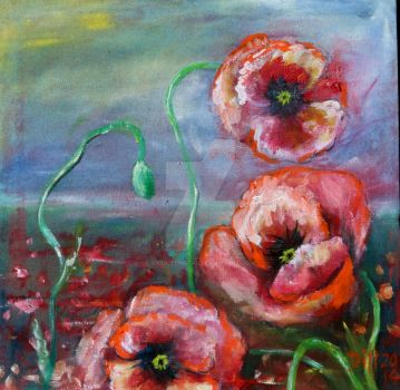 More Poppies by oxidizedmetal