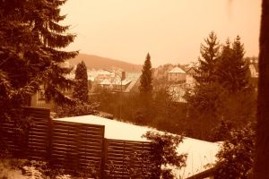 winter in sepia by konfuse