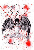 Bloody Fallen Angel by DarkWingedLover
